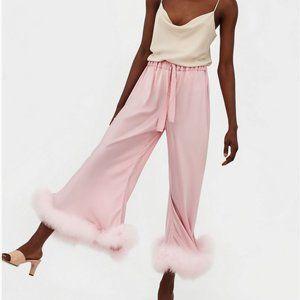 Daily-Sleeper pink boudoir flare satin pants